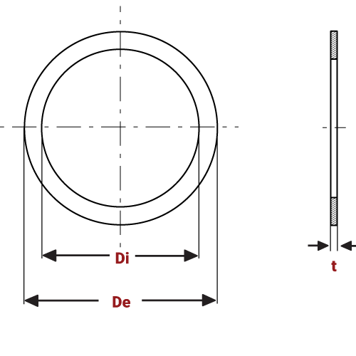 Precision Spring Washers Incorporating DIN 988 diagram