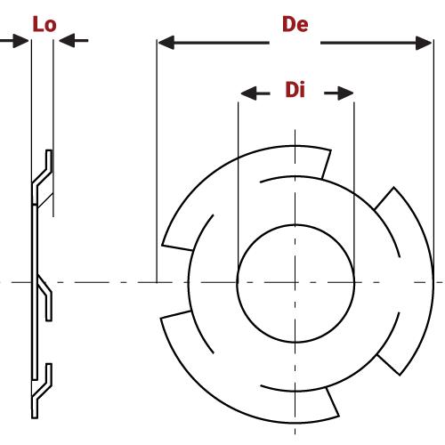 Wave Finger Spring Washers diagram