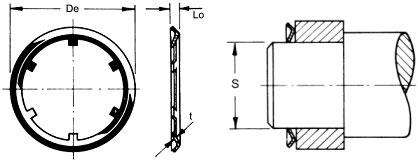 push on fasteners diagram