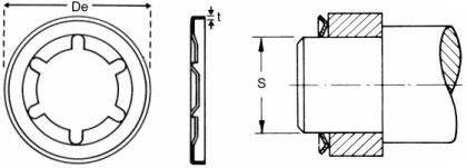 starlock pushon fasteners diagram
